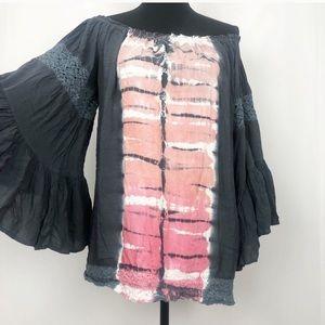 Surf Gypsy Tie Dye Boho Cover Up Tunic
